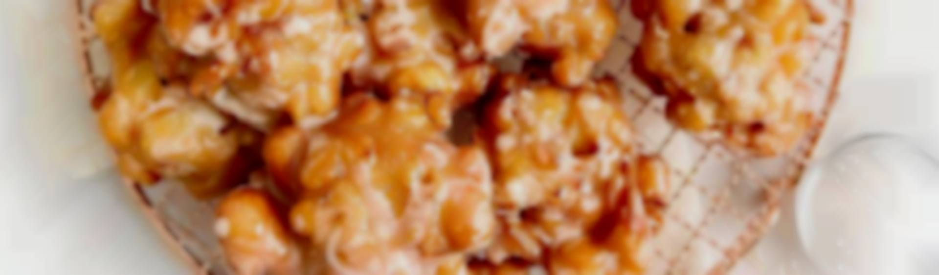 One Bowl Apple Fritters With Bourbon Vanilla Glaze Recipes Kosher Com
