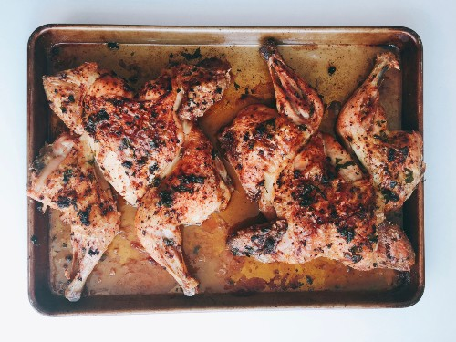Spatchcocked Roasted Chicken