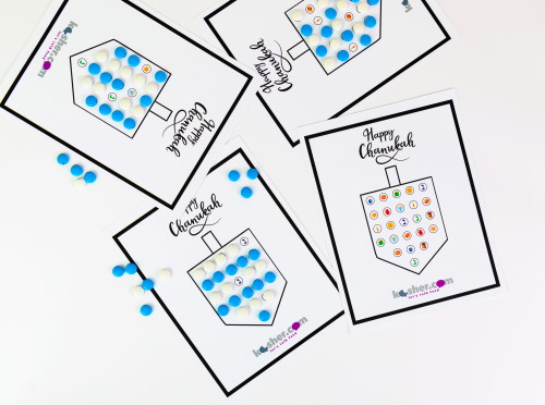 This is a photo of Free Printable Hanukkah Cards inside construction paper