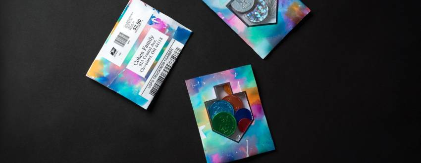 Mail Your Family Colorful Gelt Pouches for Chanukah!