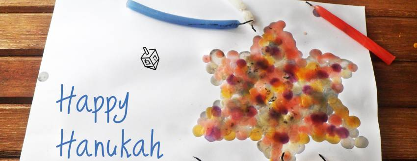 How to Turn Candle Wax into Chanukah Art