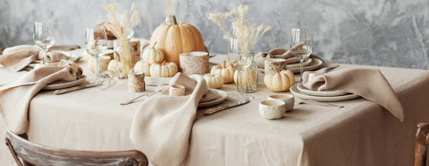 Drop Cloth to Tablecloth: Setting A Fall Table Has Never Been So Easy!