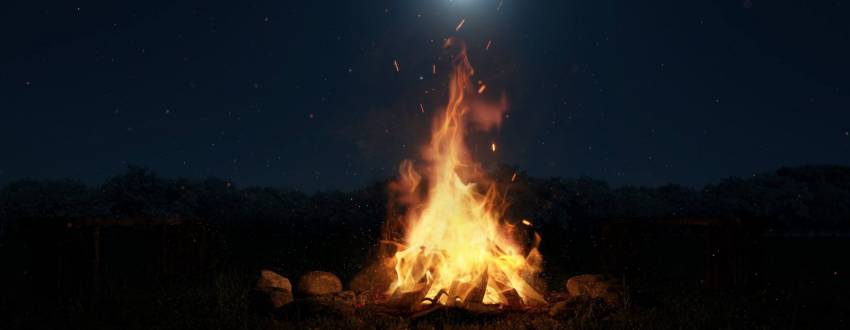 How to Make a Quick Bonfire in Your Backyard for Lag B'omer