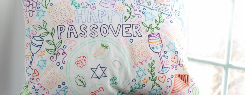 How To Make The Most Adorable Passover Pillowcases!