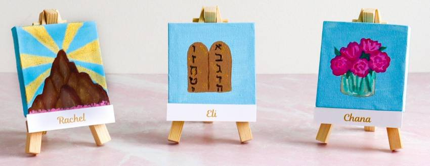 How to Make the Cutest Mini Place Card Paintings for Shavuot