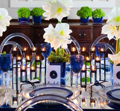 The Ultimate Blue and Silver Chanukah Table