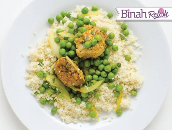 Meatballs and Peas with Couscous