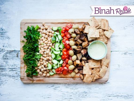 Israeli Cobb Salad with Tahini Dressing