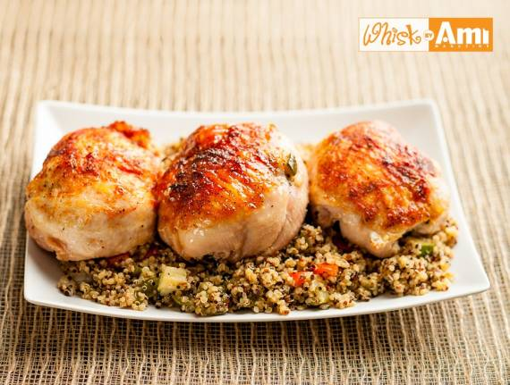 8PM: Quinoa Stuffed Chicken Capons