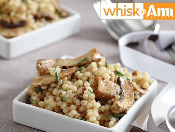 Balsamic Couscous and Mushroom Salad