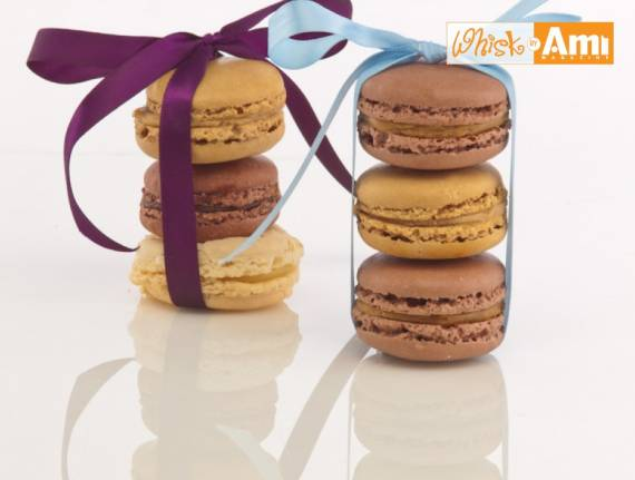 Chocolate Macarons with Caramel Cream