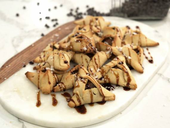 Chocolate Nutty Buddy Grain-Free Hamantaschen