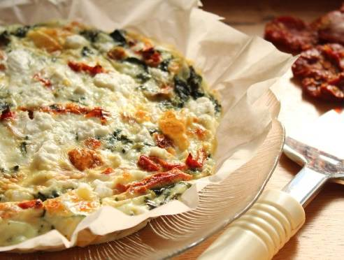 Spinach-Double Tomato Egg White Frittata