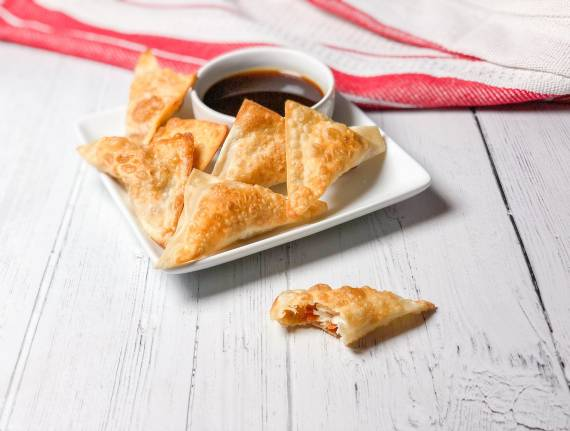 Fish Wontons with Sweet and Spicy Sauce