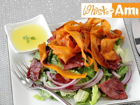 Fried Sweet Potato and Grilled Pastrami Salad