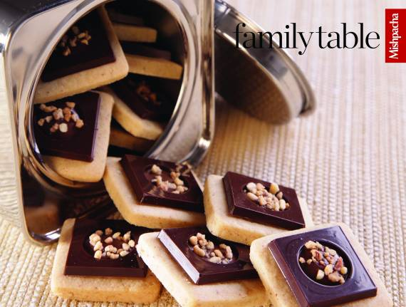 Chocolate Layer Cookies with Nougat Filling