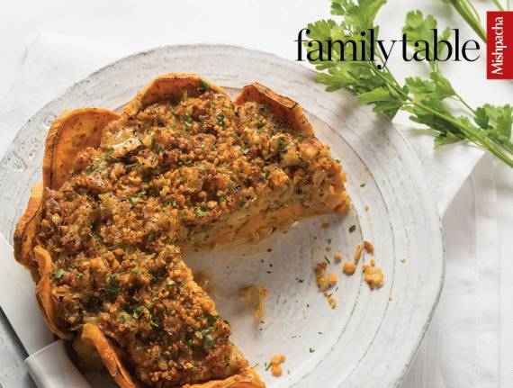 Onion Tart with Sweet Potato Crust