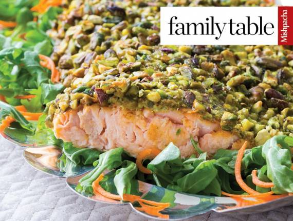 Pistachio-Crusted Pesto Salmon