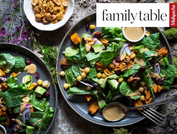 Baby Kale Salad with Lemon-Sesame Dressing