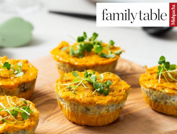 Layered Sweet Potato-Onion Kugelettes