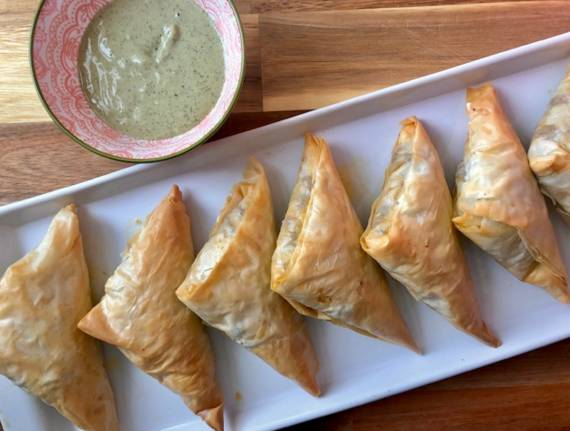 Phyllo Meat Triangles