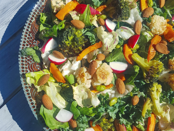 Kale, Broccoli, and Sweet Potato Salad