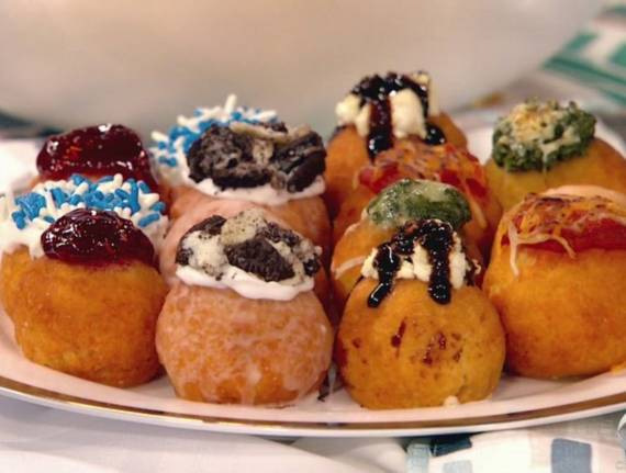 Chanukah Donuts with Sweet and Savory Toppings