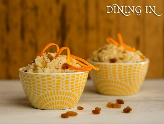 Orange Rice with Raisins