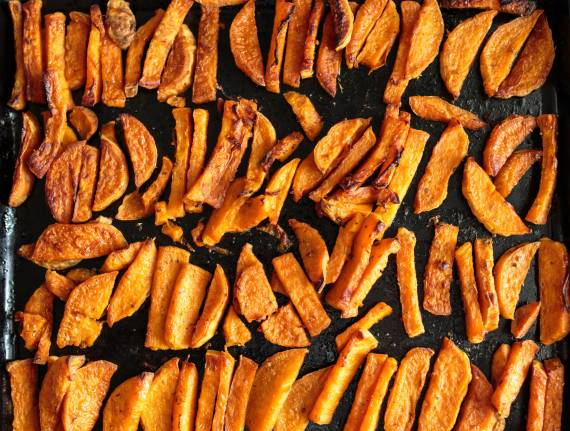 Oven-Fried Sweet Potatoes