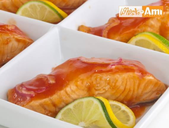 Poached Sweet and Tangy Salmon