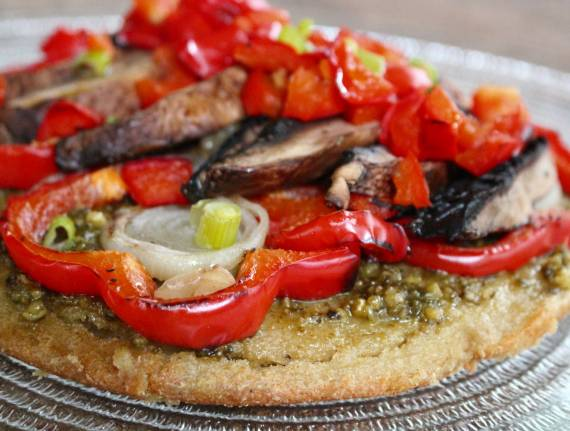 Quinoa Crust Roasted Veggie Pizza