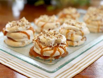 Almond-Topped Caramel Dacquoise