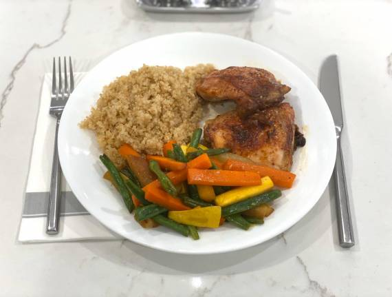 Chicken and Quinoa with Sweet and Sour Veggies