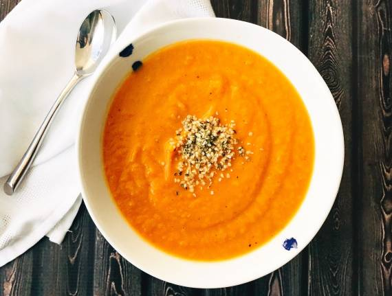 Roasted Sweet Potato and Apple Soup