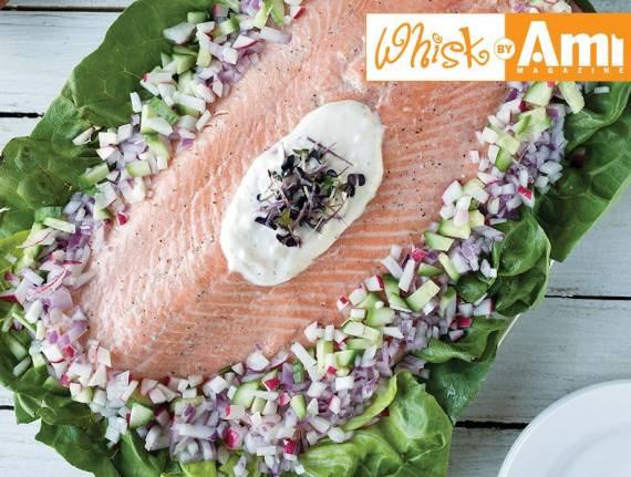 Side of Salmon with Vidalia Onion-Dill Dressing