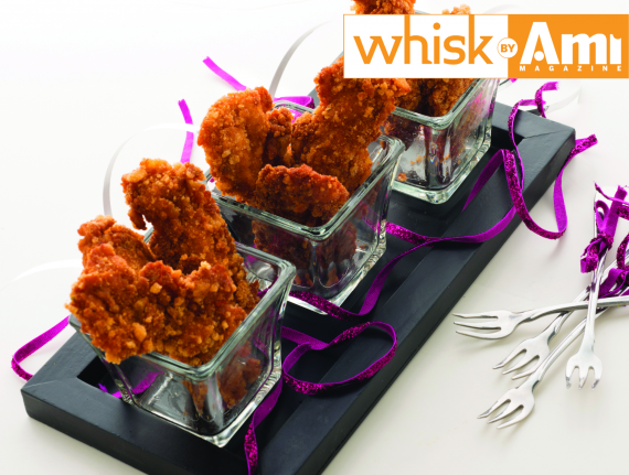 Spiced Chicken Nuggets with Crispy Melba Crust