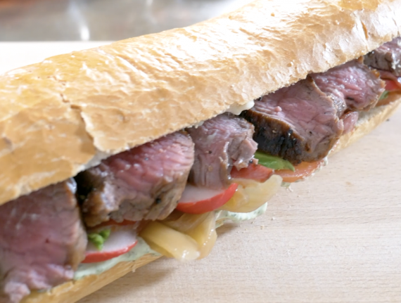 Loaded Steak Sandwich