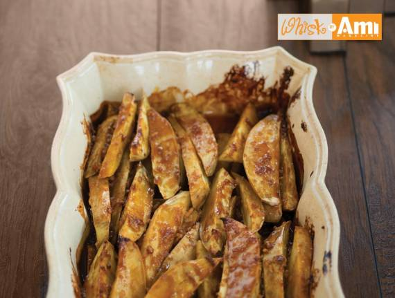 Sweet and Sticky Silan Roasted Potatoes