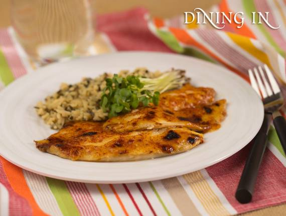 Tangy Broiled Tilapia