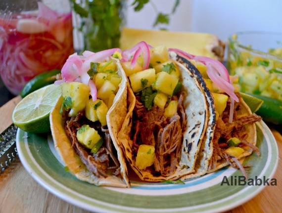 Tropical Pulled Beef Tacos