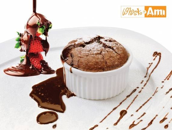 Warm Chocolate Soufflé with a Hint of Chili