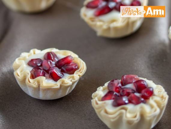 White Chocolate Pomegranate Tarts