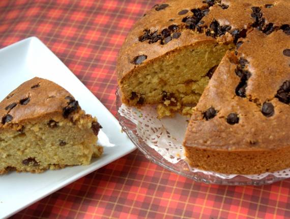 Whole Wheat Chocolate Chip Cake