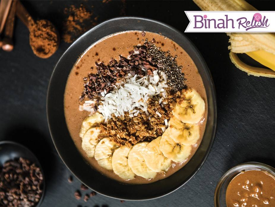 Chocolatey PB and Banana Bowl