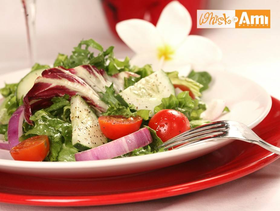 Baby Spinach Salad with Creamy Avocado Dressing