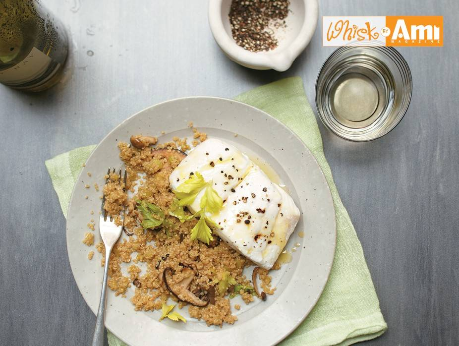 Basic Poached Halibut and Quinoa