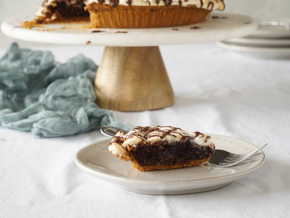 I Can't Believe It's Kosher For Pesach S'more Brownie Pie