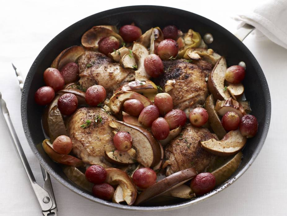 Chicken Thighs with Roasted Fall Fruit