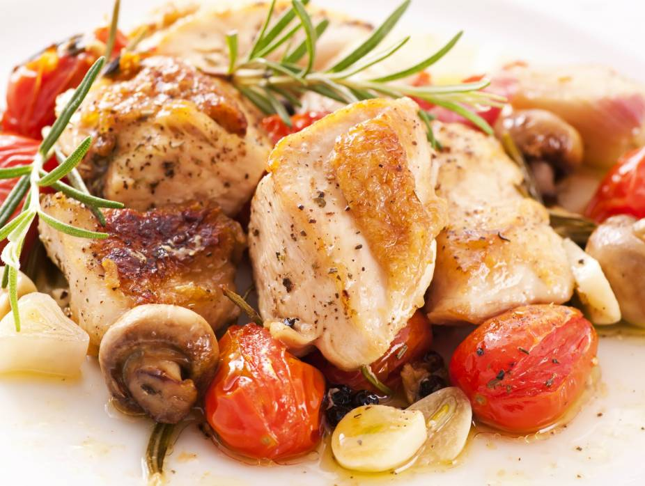 Chicken with Mushrooms and Tomatoes