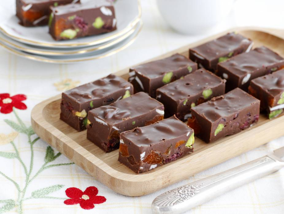 Chocolate and Dried Fruit Bars